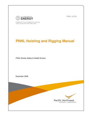 Primary view of object titled 'PNNL Hoisting and Rigging Manual'.