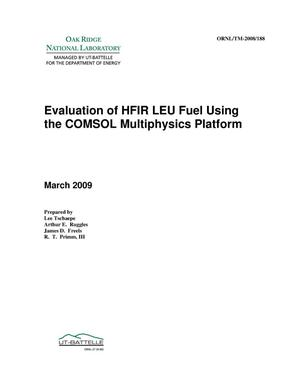 Primary view of object titled 'Evaluation of HFIR LEU Fuel Using the COMSOL Multiphysics Platform'.