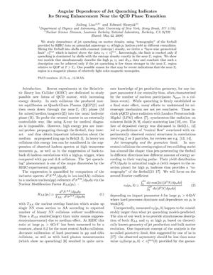 Primary view of object titled 'Angular Dependence of Jet Quenching Indicates Its Strong Enhancement Near the QCD Phase Transition'.
