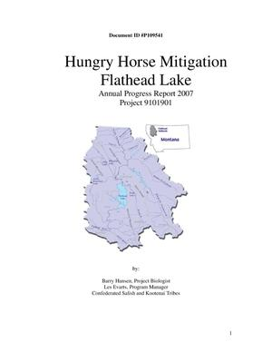 Primary view of object titled 'Hungry Horse Mitigation : Flathead Lake : Annual Progress Report 2007.'.