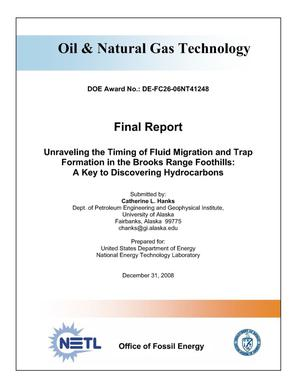 Primary view of object titled 'Unraveling the Timing of Fluid Migration and Trap Formation in the Brooks Range Foothills: A Key to Discovering Hydrocarbons'.