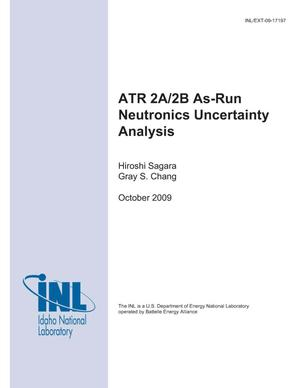 Primary view of object titled 'ATR 2A/2B As-Run Neutronics Uncertainty Analysis'.