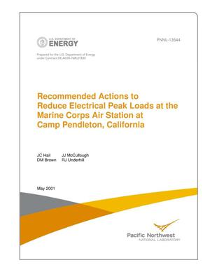 Primary view of object titled 'Final Report Recommended Actions to Reduce Electrical Peak Loads at the Marine Corps Air Station at Camp Pendleton, California'.