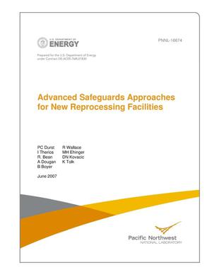 Primary view of object titled 'Advanced Safeguards Approaches for New Reprocessing Facilities'.