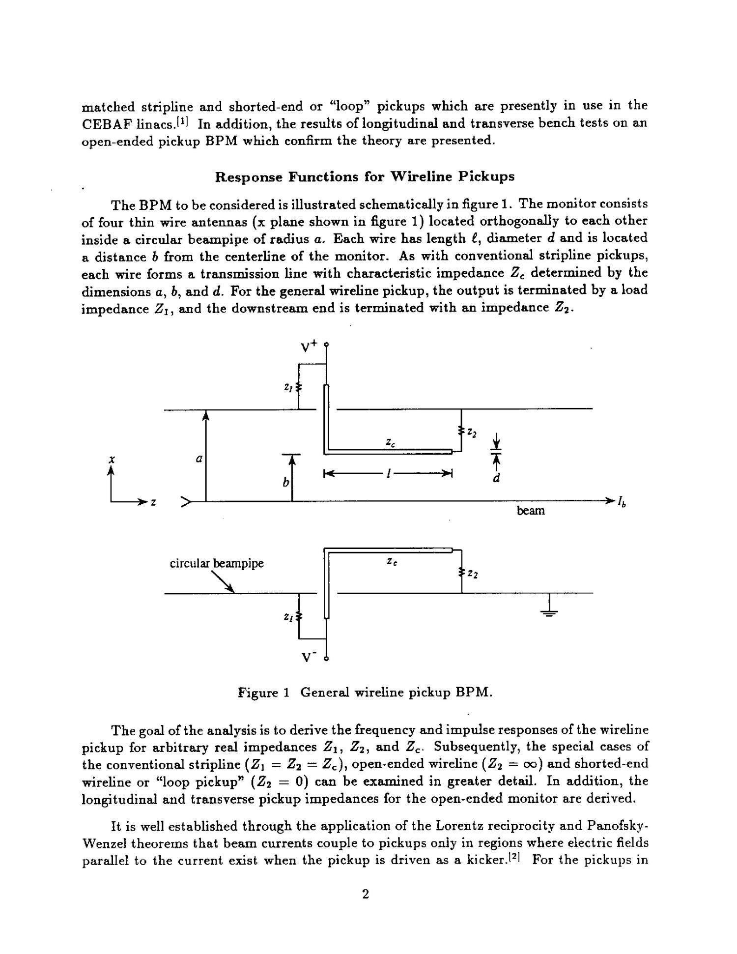 A General Analysis of Thin Wire Pickups for High Frequency Beam Position Monitors                                                                                                      [Sequence #]: 4 of 17