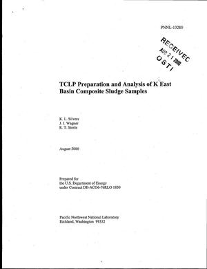 Primary view of object titled 'TCLP Preparation and Analysis of K East Basin Composite Sludge Samples'.