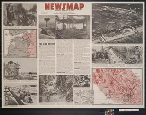 Primary view of object titled 'Newsmap. Monday, February 21, 1944 : week of February 10 to February 17 : 232nd week of the war, 114th week of U.S. participation'.