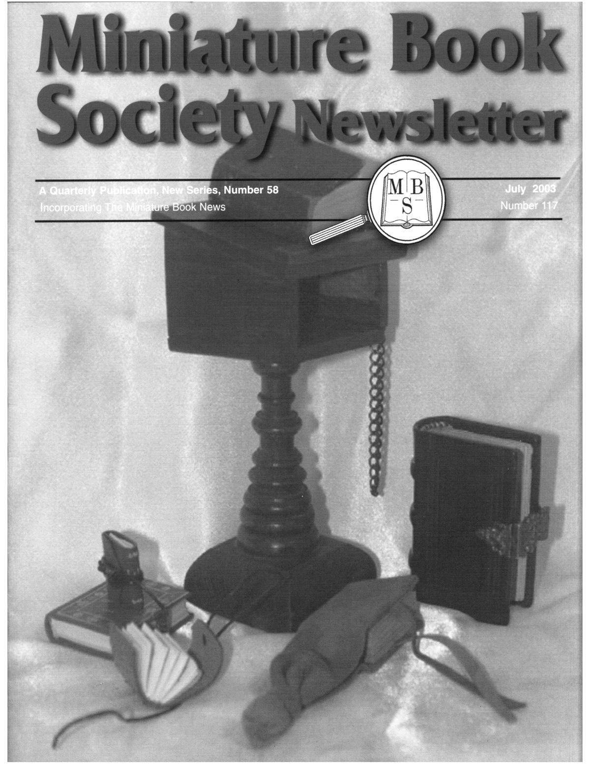 Miniature Book Society Newsletter 2003 July                                                                                                      Front Cover