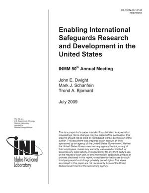 Primary view of object titled 'Enabling International Safeguards Research and Development in the United States'.