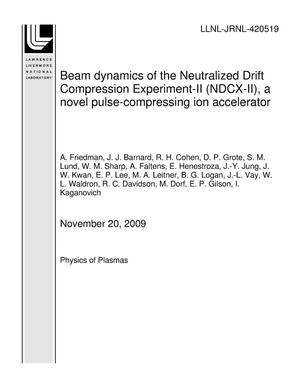 Primary view of object titled 'Beam dynamics of the Neutralized Drift Compression Experiment-II (NDCX-II), a novel pulse-compressing ion accelerator'.