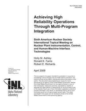 Primary view of object titled 'Achieving High Reliability Operations Through Multi-Program Integration'.