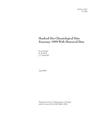 Primary view of object titled 'Hanford Site Climatological Data Summary 1999 with Historical Data'.