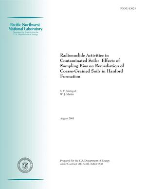 Primary view of object titled 'Radionuclide Activities in Contaminated Soils: Effects of Sampling Bias on Remediation of Coarse-Grained Soils in Hanford Formation'.