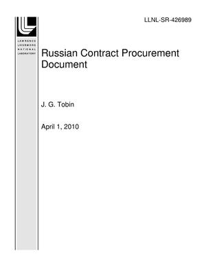 Primary view of object titled 'Russian Contract Procurement Document'.
