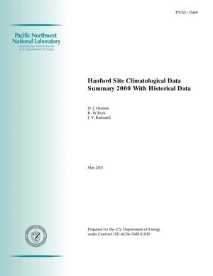 Primary view of object titled 'Hanford Site Climatological Data Summary 2000 with Historical Data'.