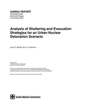 Primary view of object titled 'Analysis of sheltering and evacuation strategies for an urban nuclear detonation scenario.'.