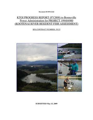 Primary view of object titled 'Kootenai River Resident Fish Assessment, FY2008 KTOI Progress Report.'.