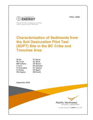 Primary view of object titled 'Characterization of Sediments from the Soil Desiccation Pilot Test (SDPT) Site in the BC Cribs and Trenches Area'.