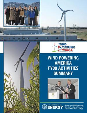 Primary view of object titled 'Wind Powering America FY08 Activities Summary (Book)'.