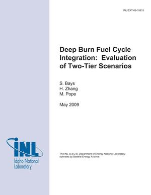Primary view of object titled 'Deep Burn Fuel Cycle Integration: Evaluation of Two-Tier Scenarios'.