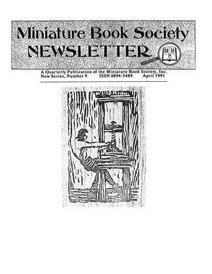 Primary view of object titled 'Miniature Book Society Newsletter 1991 April'.