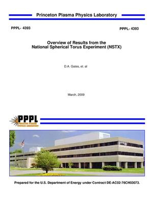Primary view of object titled 'Overview of Results from the National Spherical Torus Experiment (NSTX)'.