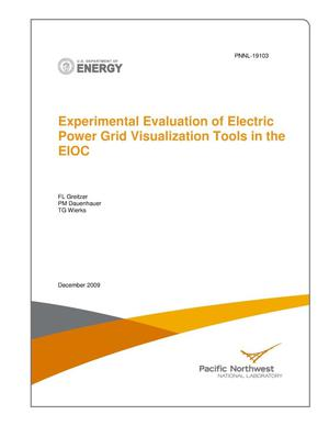 Primary view of object titled 'Experimental Evaluation of Electric Power Grid Visualization Tools in the EIOC'.