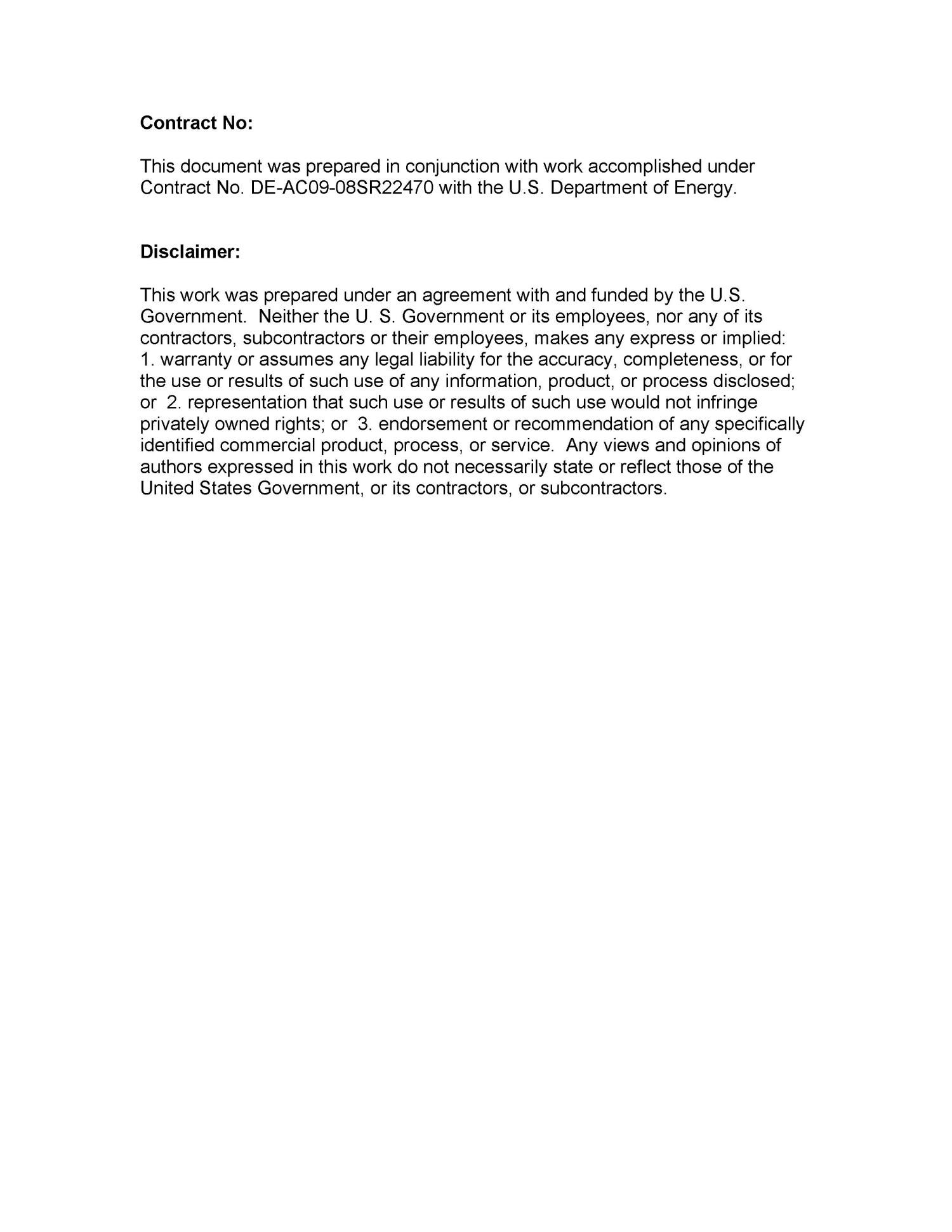 UNITED STATES DEPARTMENT OF ENERGY OFFICE OF ENVIRONMENTAL MANAGEMENT WASTE PROCESSING ANNUAL TECHNOLOGY DEVELOPMENT REPORT 2008                                                                                                      [Sequence #]: 1 of 124