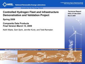 Primary view of object titled 'Controlled Hydrogen Fleet and Infrastructure Demonstration and Validation Project: Spring 2009; Composite Data Products, Final Version March 19, 2009'.