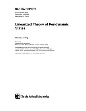 Primary view of object titled 'Linearized theory of peridynamic states.'.