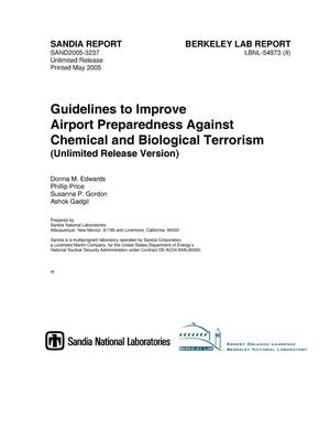 Primary view of object titled 'Guidelines to improve airport preparedness against chemical and biological terrorism.'.