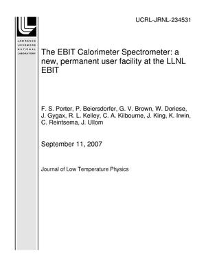 Primary view of object titled 'The EBIT Calorimeter Spectrometer: a new, permanent user facility at the LLNL EBIT'.