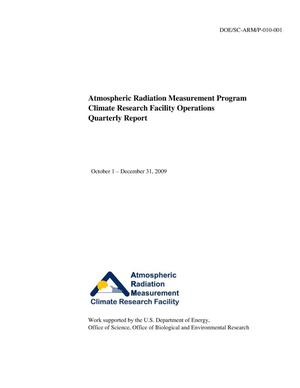 Primary view of object titled 'Atmospheric Radiation Measurement Program Climate Research Facility Operations Quarterly Report. October 1 - December 31, 2009.'.