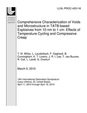 Primary view of object titled 'Comprehensive Characterization of Voids and Microstructure in TATB-based Explosives from 10 nm to 1 cm: Effects of Temperature Cycling and Compressive Creep'.