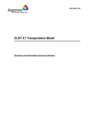 Primary view of object titled 'ELIST 8.7 transportation model.'.