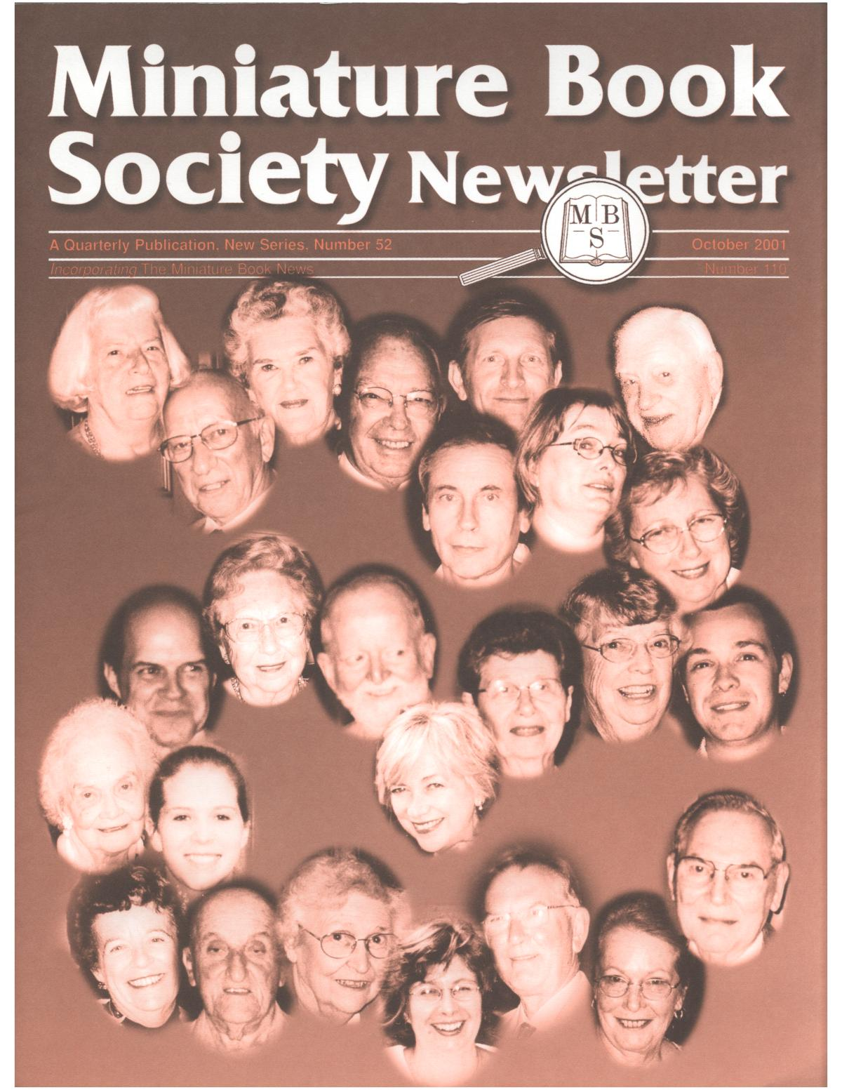 Miniature Book Society Newsletter 2001 October                                                                                                      Front Cover