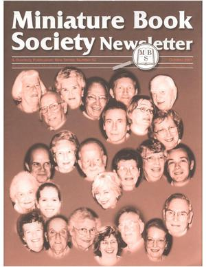 Primary view of object titled 'Miniature Book Society Newsletter 2001 October'.