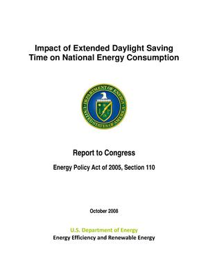 Primary view of object titled 'Impact of Extended Daylight Saving Time on National Energy Consumption Report to Congress'.