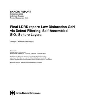 Primary view of object titled 'Low dislocation GaN via defect-filtering, self-assembled SiO2-sphere layers.'.