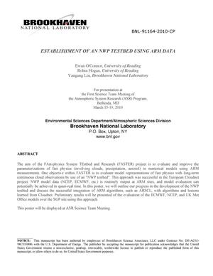Primary view of object titled 'Establishment of an NWP testbed using ARM data'.