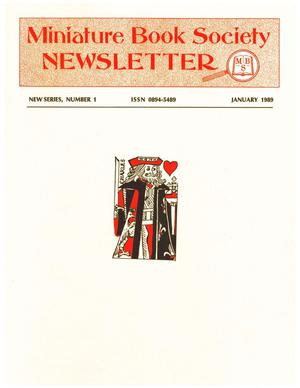 Primary view of object titled 'Miniature Book Society Newsletter 1989 January'.