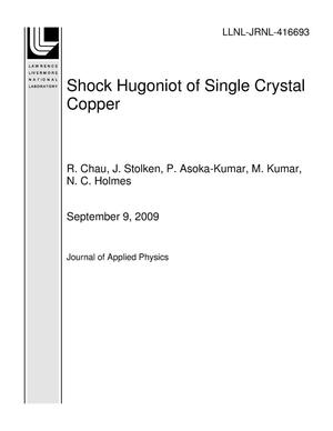 Primary view of object titled 'Shock Hugoniot of Single Crystal Copper'.