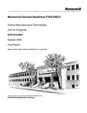 Primary view of object titled 'Mechanical Devices Readiness FY04.0402.3'.