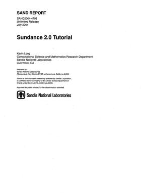 Primary view of object titled 'Sundance 2.0 tutorial.'.