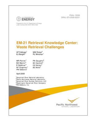 Primary view of object titled 'EM-21 Retrieval Knowledge Center: Waste Retrieval Challenges'.