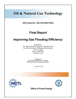 Primary view of object titled 'Improving Gas Flooding Efficiency'.