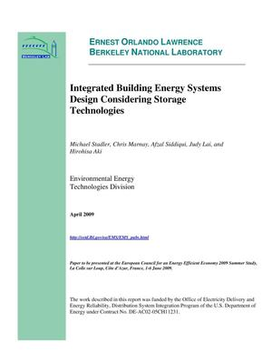Primary view of object titled 'Integrated Building Energy Systems Design Considering Storage Technologies'.