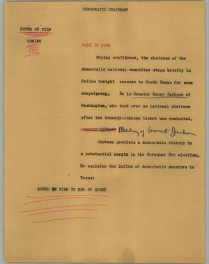 Primary view of object titled '[News Script: Democratic chairman]'.