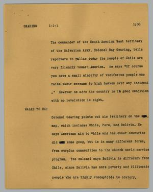 Primary view of object titled '[News Script: Gearing]'.