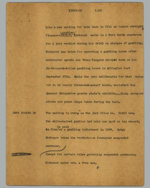 Primary view of object titled '[News Script: Kirkwood]'.